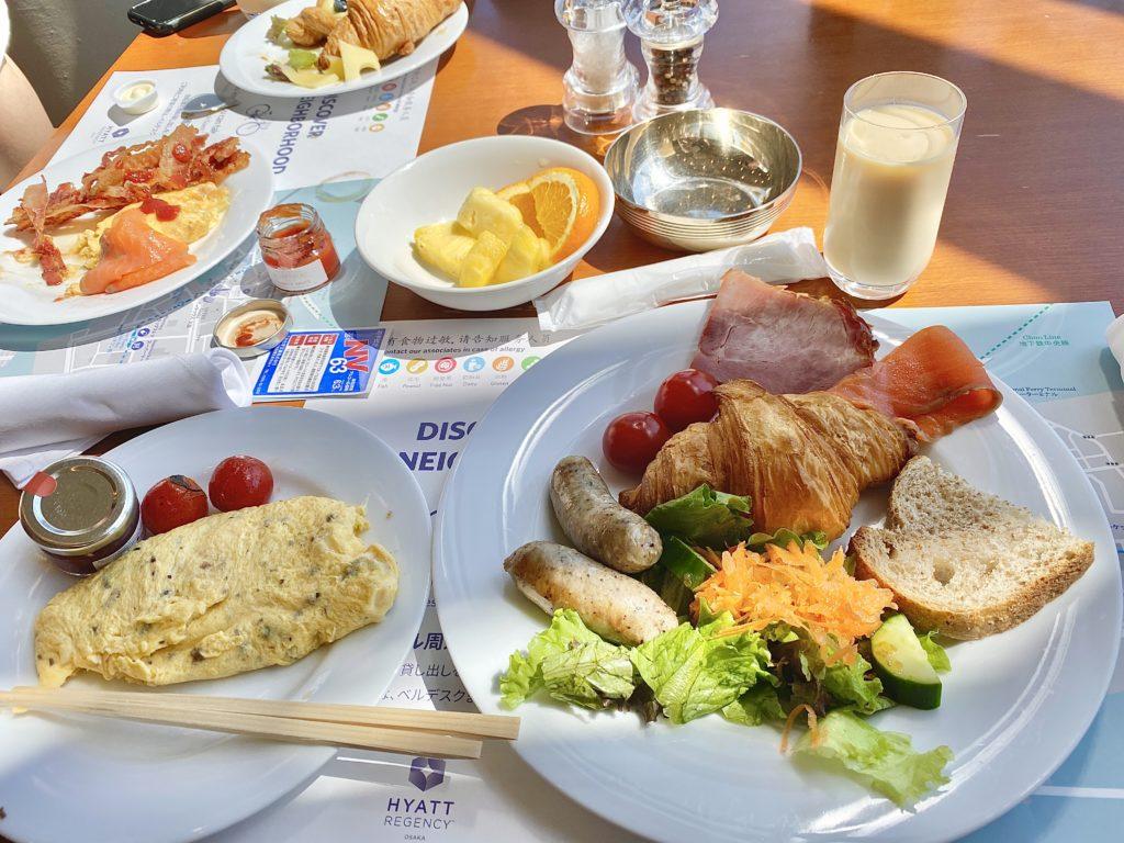 ハイアットリージェンシー大阪ザ・カフェで朝食
